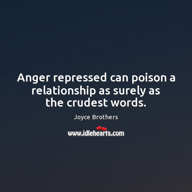 Image, Anger repressed can poison a relationship as surely as the crudest words.