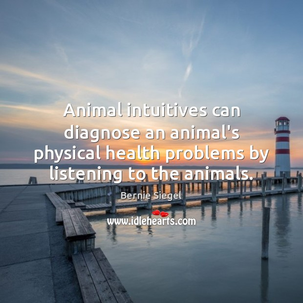 Image, Animal intuitives can diagnose an animal's physical health problems by listening to
