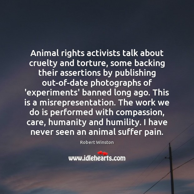 Image, Animal rights activists talk about cruelty and torture, some backing their assertions