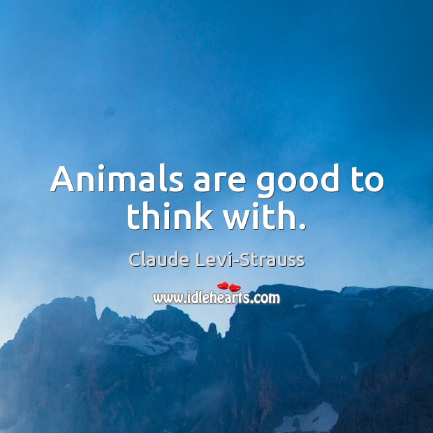 Animals are good to think with. Image