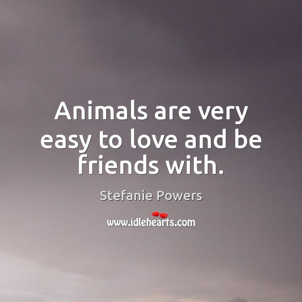 Animals are very easy to love and be friends with. Image