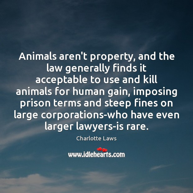 Animals aren't property, and the law generally finds it acceptable to use Image