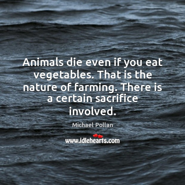Image, Animals die even if you eat vegetables. That is the nature of