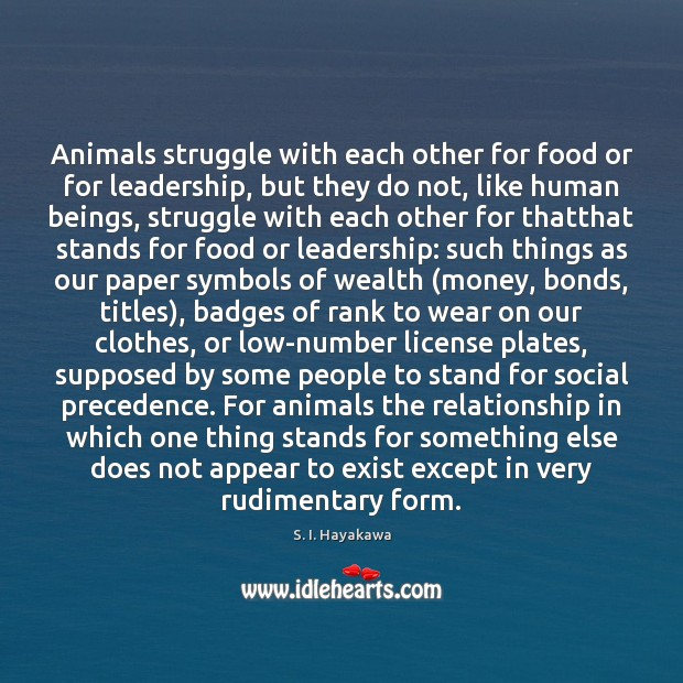 Image, Animals struggle with each other for food or for leadership, but they