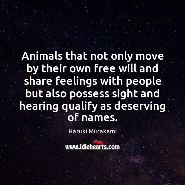 Animals that not only move by their own free will and share Image