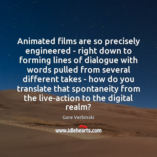 Image, Animated films are so precisely engineered – right down to forming lines
