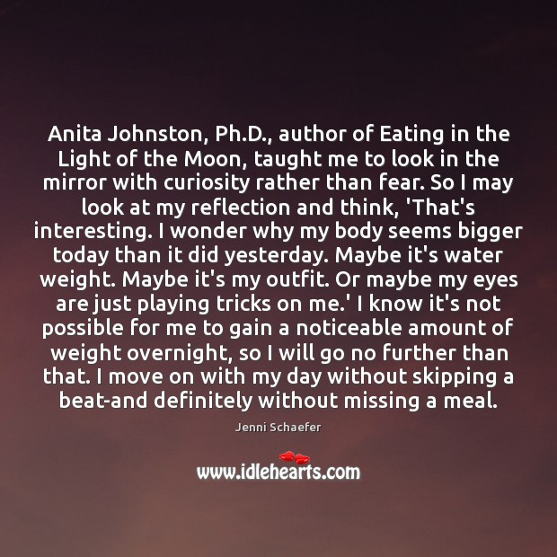 Anita Johnston, Ph.D., author of Eating in the Light of the Image