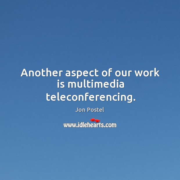 Another aspect of our work is multimedia teleconferencing. Image
