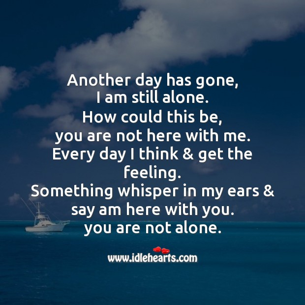 Another day has gone Missing You Messages Image
