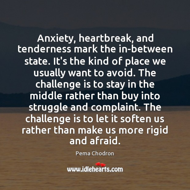 Image, Anxiety, heartbreak, and tenderness mark the in-between state. It's the kind of