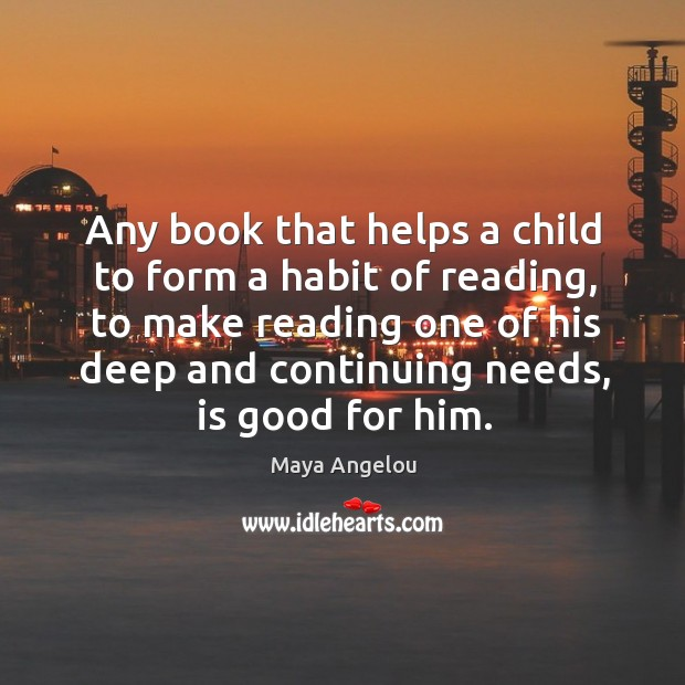 Image, Any book that helps a child to form a habit of reading