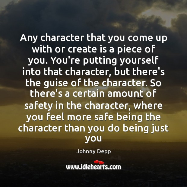 Image, Any character that you come up with or create is a piece