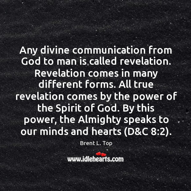 Image, Any divine communication from God to man is called revelation. Revelation comes