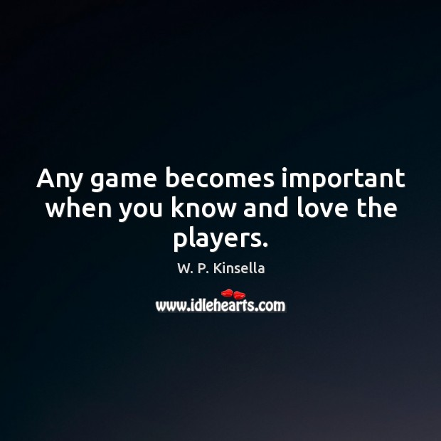 Any game becomes important when you know and love the players. Image
