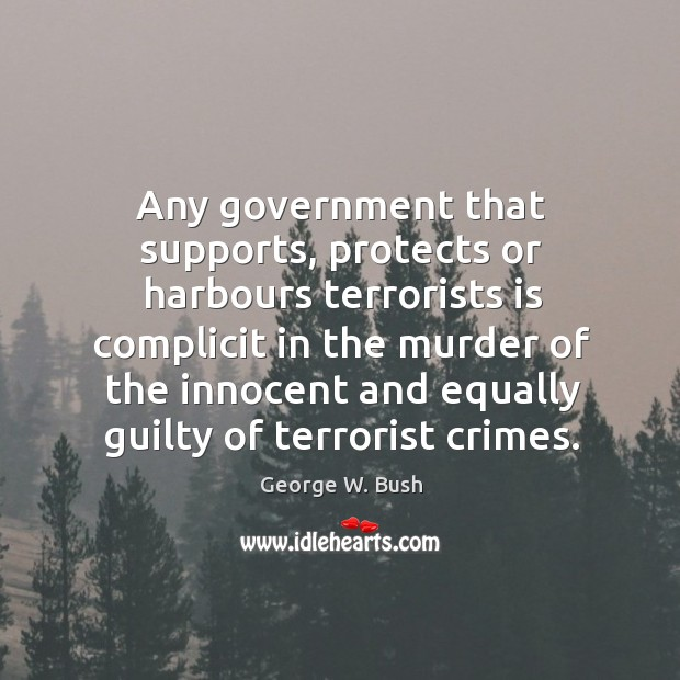 Image, Any government that supports, protects or harbours terrorists