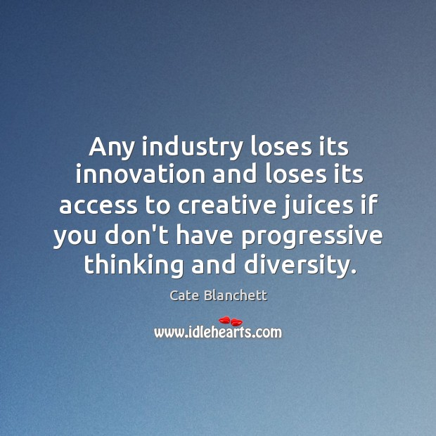 Image, Any industry loses its innovation and loses its access to creative juices