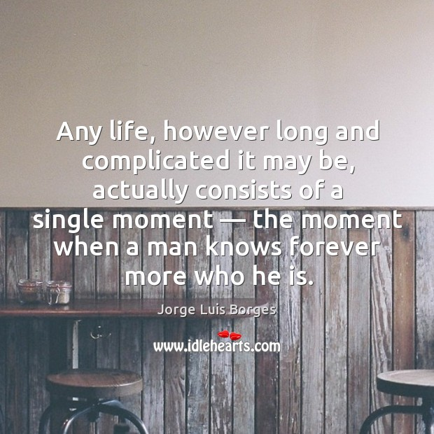 Any life, however long and complicated it may be, actually consists of Image