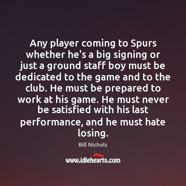 Image, Any player coming to Spurs whether he's a big signing or just