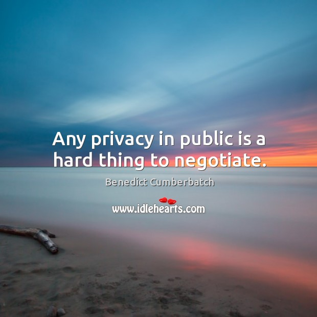 Image, Any privacy in public is a hard thing to negotiate.