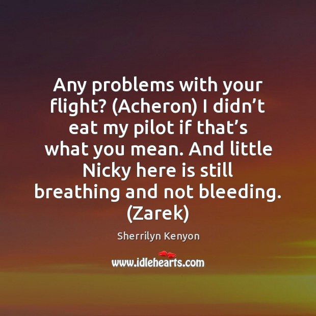 Any problems with your flight? (Acheron) I didn't eat my pilot Image