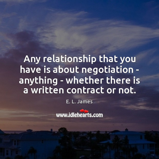 Any relationship that you have is about negotiation – anything – whether Image