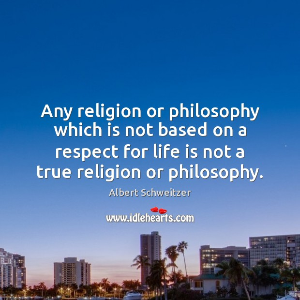 Any religion or philosophy which is not based on a respect for Image