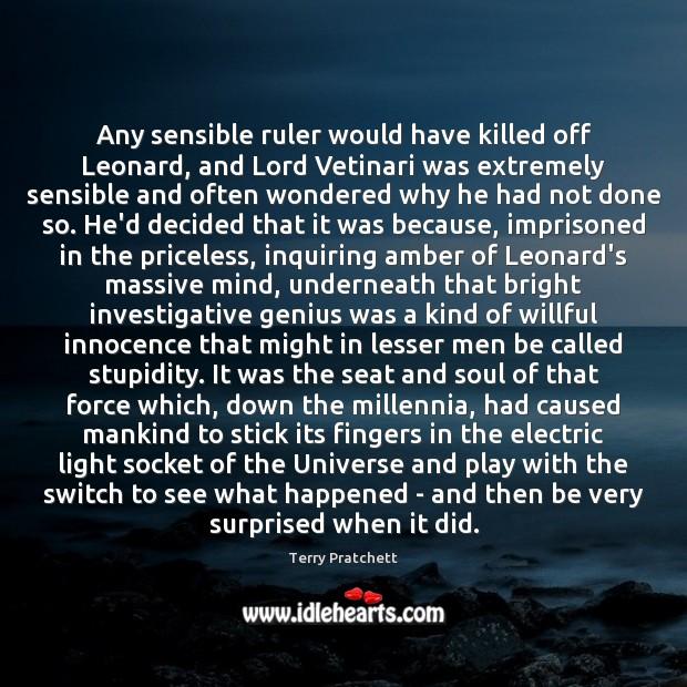 Any sensible ruler would have killed off Leonard, and Lord Vetinari was Image
