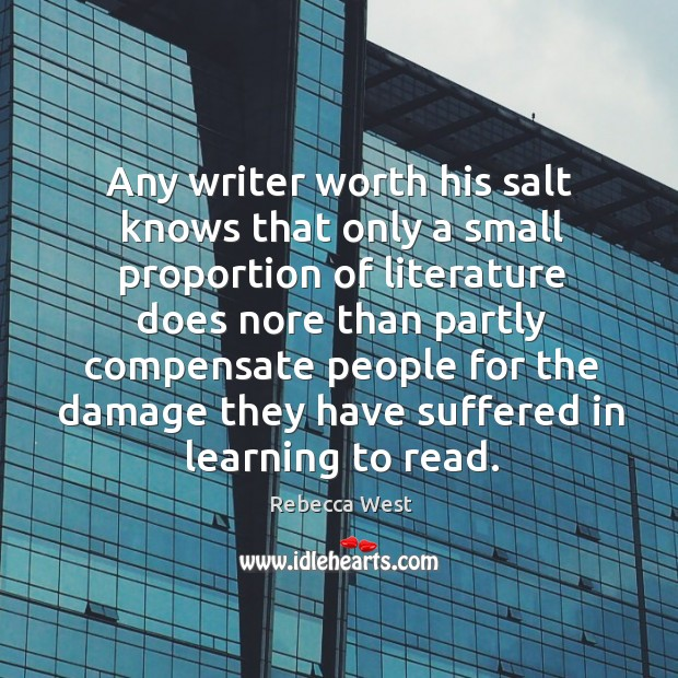 Any writer worth his salt knows that only a small proportion of Image