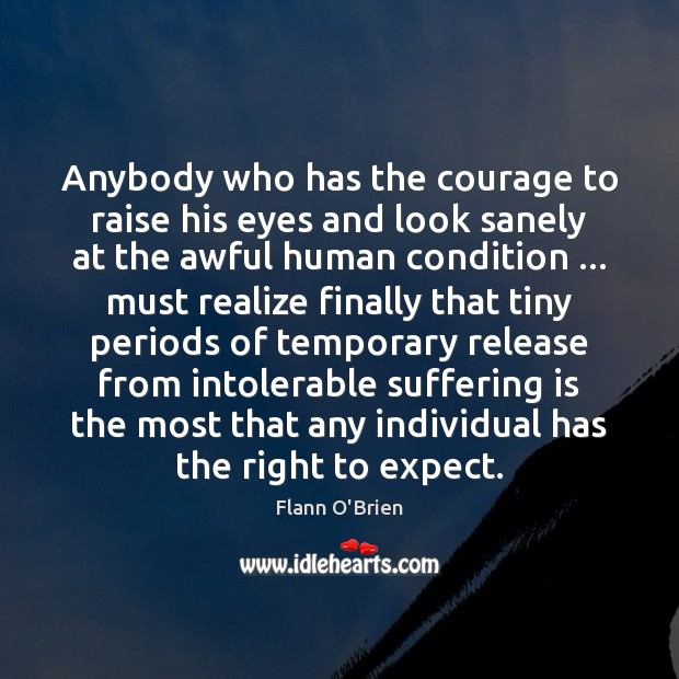 Anybody who has the courage to raise his eyes and look sanely Image