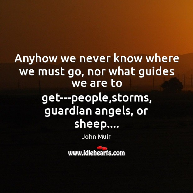 Anyhow we never know where we must go, nor what guides we Image
