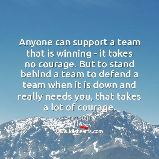 Anyone can support a team that is winning – it takes no Image