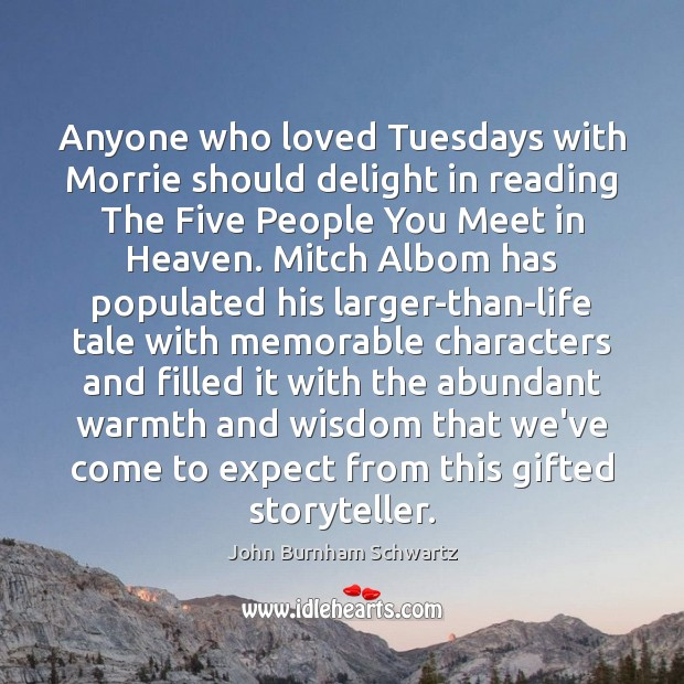 Anyone who loved Tuesdays with Morrie should delight in reading The Five Image