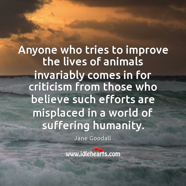 Image, Anyone who tries to improve the lives of animals invariably comes in