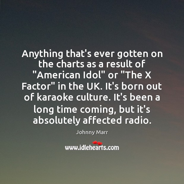 """Image, Anything that's ever gotten on the charts as a result of """"American"""