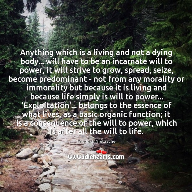 Anything which is a living and not a dying body… will have Image