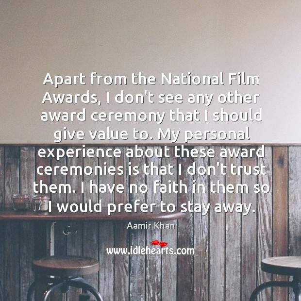 Image, Apart from the National Film Awards, I don't see any other award