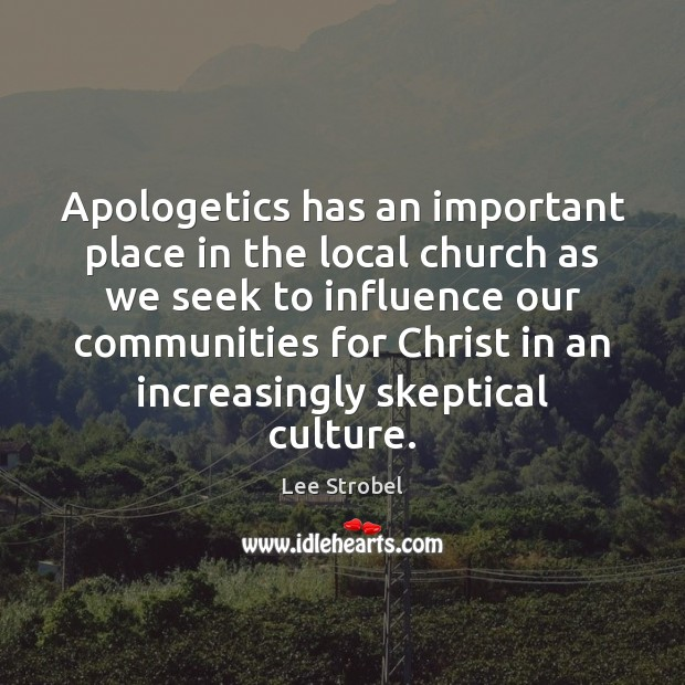 Image, Apologetics has an important place in the local church as we seek