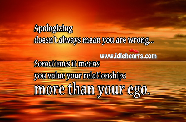 Relationship is more than ego Image
