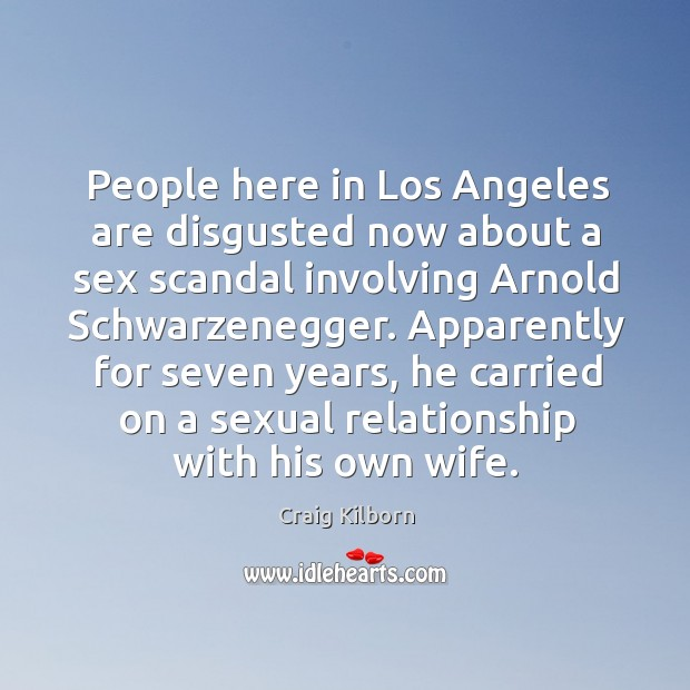 Apparently for seven years, he carried on a sexual relationship with his own wife. Image