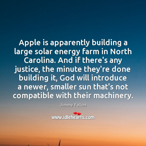 Apple is apparently building a large solar energy farm in North Carolina. Image