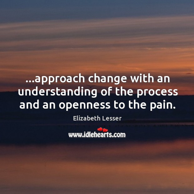 …approach change with an understanding of the process and an openness to the pain. Image