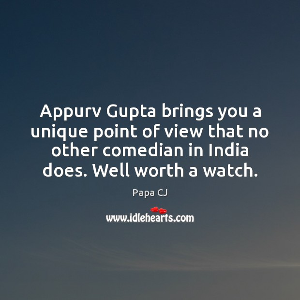 Appurv Gupta brings you a unique point of view that no other Image