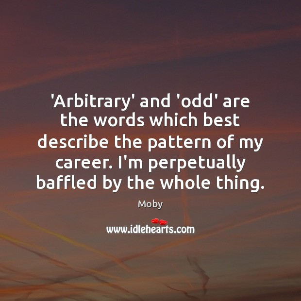 'Arbitrary' and 'odd' are the words which best describe the pattern of Image