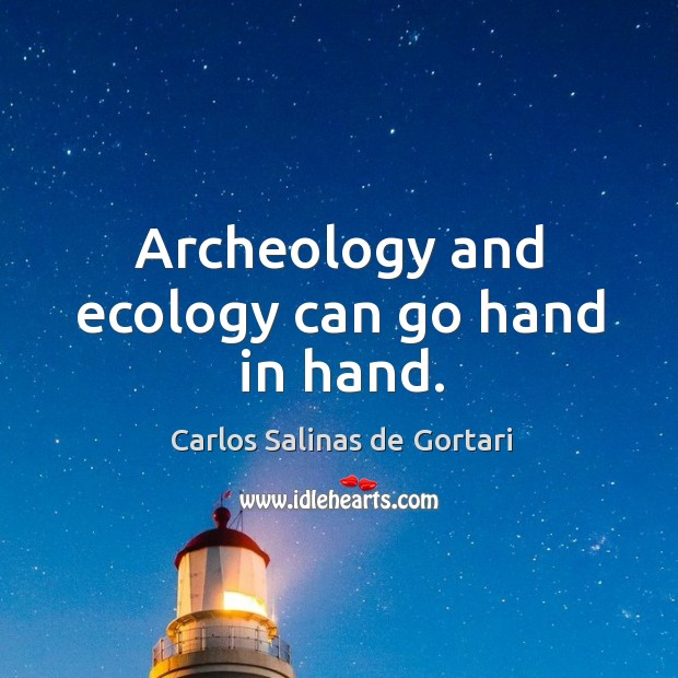 Image, Archeology and ecology can go hand in hand.