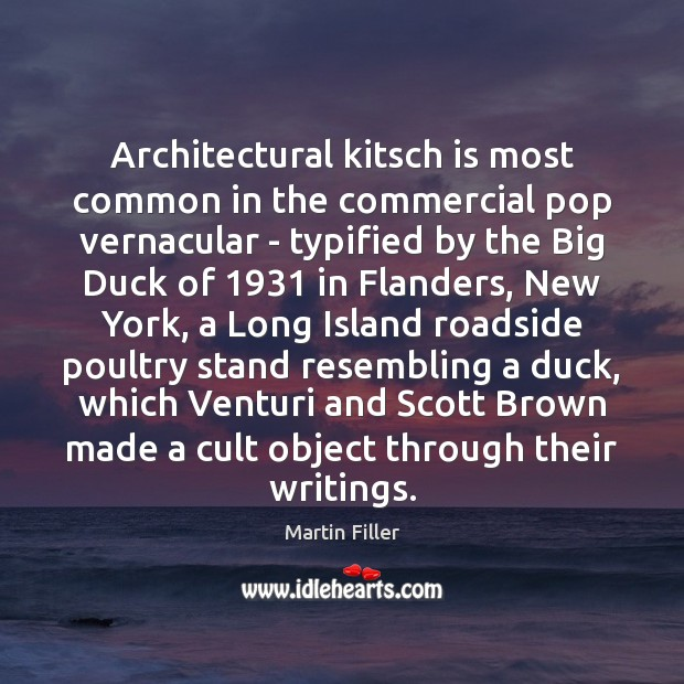 Image, Architectural kitsch is most common in the commercial pop vernacular – typified