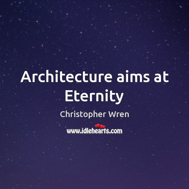 Architecture aims at Eternity Image
