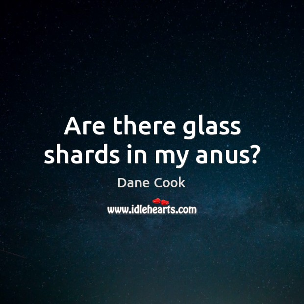 Image, Are there glass shards in my anus?