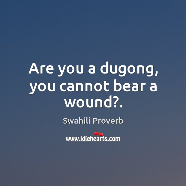 Image, Are you a dugong, you cannot bear a wound?.