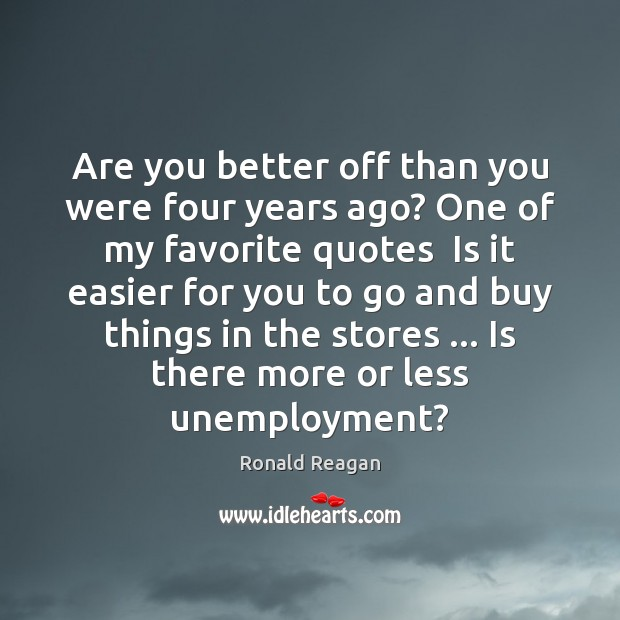 Are you better off than you were four years ago? One of Image