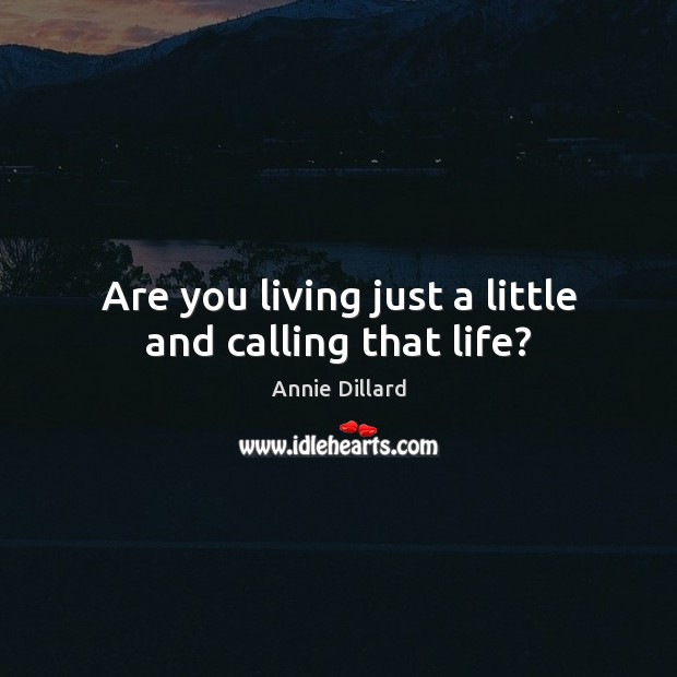 Are you living just a little and calling that life? Image
